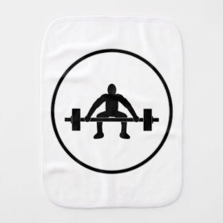 Weight Lift Sign Baby Burp Cloth