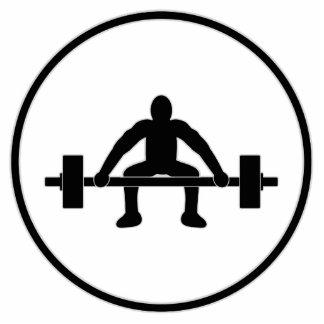 Weight Lift Sign Cutout