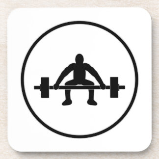 Weight Lift Sign Drink Coaster