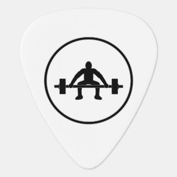 Weight Lift Sign Guitar Pick by warrior_woman at Zazzle