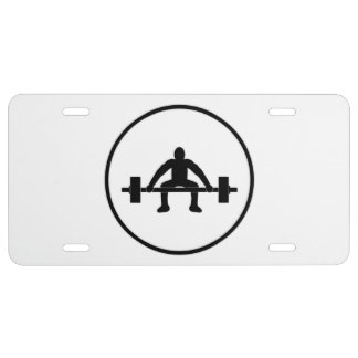 Weight Lift Sign License Plate