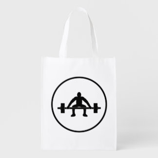Weight Lift Sign Market Totes