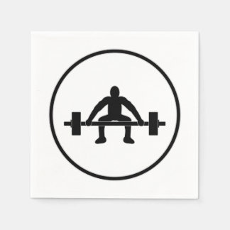 Weight Lift Sign Napkin