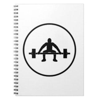 Weight Lift Sign Notebook