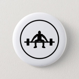 Weight Lift Sign Pinback Button