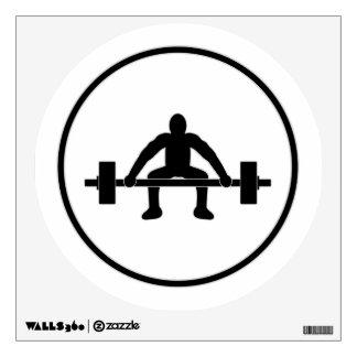 Weight Lift Sign Wall Sticker