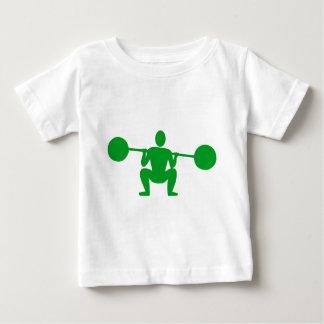 Weight Lifter 01 - Grass Green Baby T-Shirt