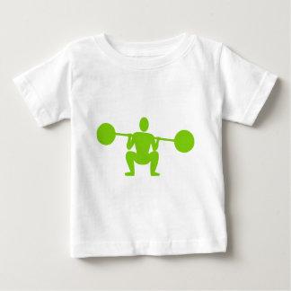 Weight Lifter 01 - Martian Green Baby T-Shirt