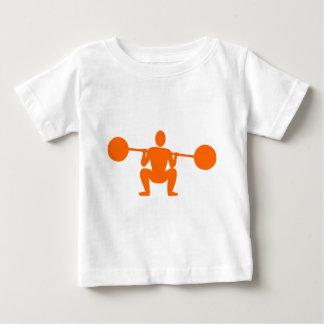 Weight Lifter 01 - Orange Baby T-Shirt