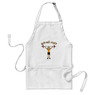Weight Lifter (Blonde) Adult Apron