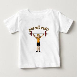 Weight Lifter (Blonde) Baby T-Shirt