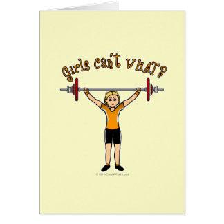 Weight Lifter (Blonde) Card
