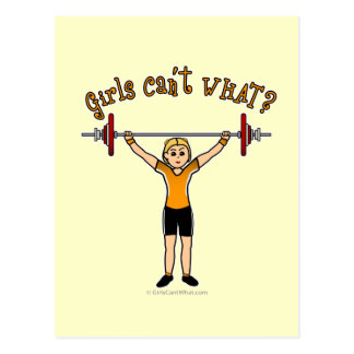 Weight Lifter (Blonde) Post Cards