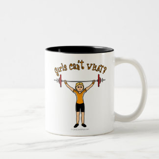 Weight Lifter (Blonde) Two-Tone Coffee Mug