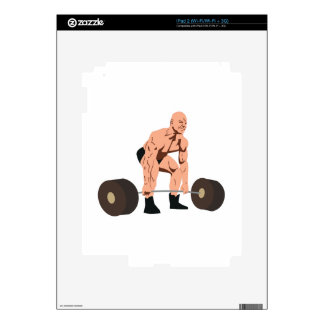 Weight Lifter Decals For iPad 2