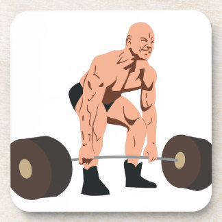 Weight Lifter Drink Coaster