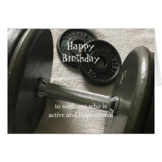 Weight Lifter Inspirational Birthday Card