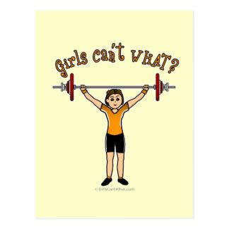 Weight Lifter (Light) Postcard