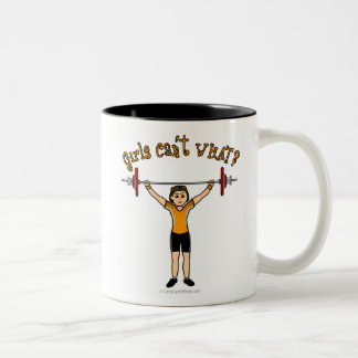 Weight Lifter (Light) Two-Tone Coffee Mug
