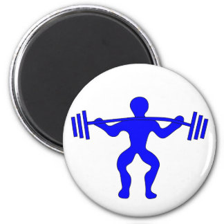 Weight lifter more weightlifter 2 inch round magnet