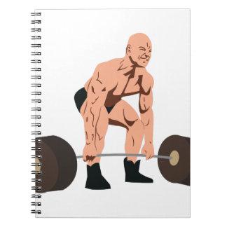 Weight Lifter Notebook