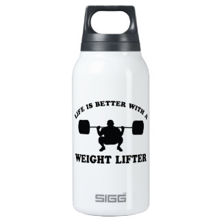 Weight Lifter Vector Designs Insulated Water Bottle
