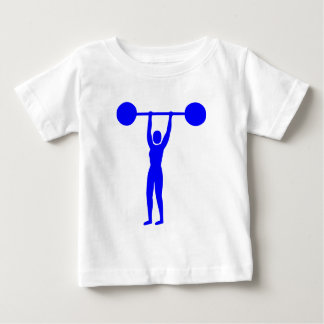 Weight Lifting 02 - Blue Baby T-Shirt