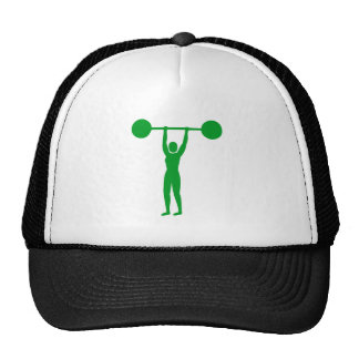 Weight Lifting 02 - Grass Green Mesh Hat