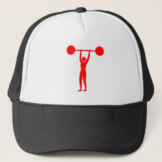 Weight Lifting 02 - Red Trucker Hat