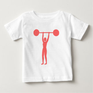 Weight Lifting 02 - Tropical Pink Baby T-Shirt