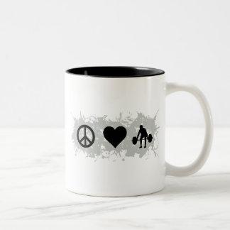 Weight lifting 1 Two-Tone coffee mug