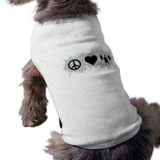 Weight lifting 2 dog t-shirt