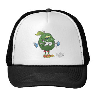 Weight lifting Avocado, on a hat. Trucker Hat