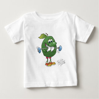 Weight lifting Avocado, on a t-shirt. Baby T-Shirt