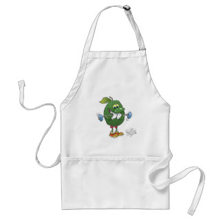 Weight lifting Avocado, on an apron. Adult Apron