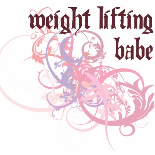 Weight Lifting Babe Photo Sculpture Ornament