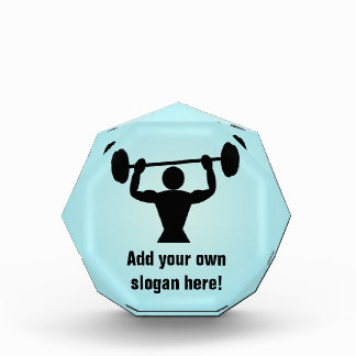 Weight-Lifting & Bodybuilding Graphic - Your Text Award