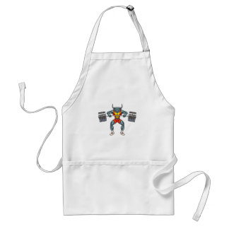 weight lifting bull 3 adult apron