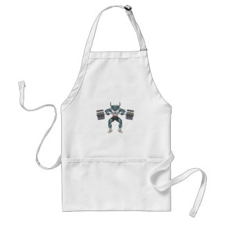 weight lifting bull adult apron