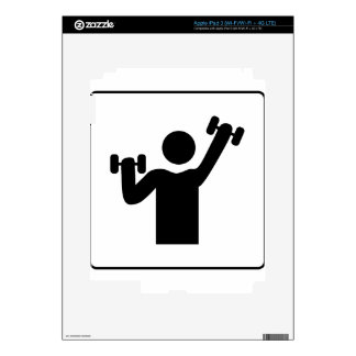 Weight Lifting Decals For iPad 3