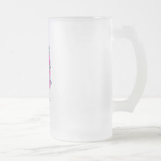 Weight Lifting Frosted Glass Beer Mug