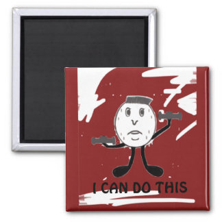 Weight Lifting Humor Square Magnet