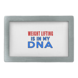 WEIGHT LIFTING IS IN MY DNA BELT BUCKLES