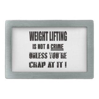 Weight Lifting is not a crime Rectangular Belt Buckles