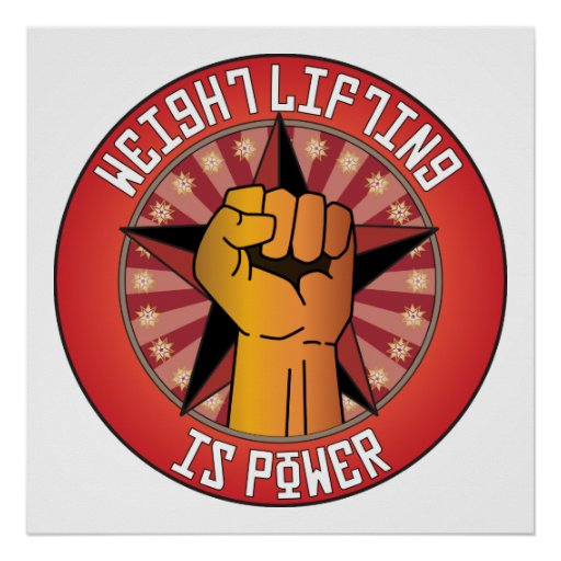 Weight Lifting Is Power Poster