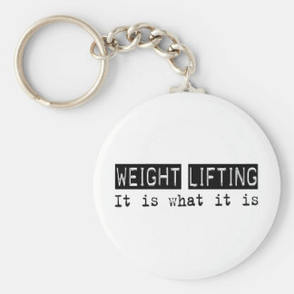 Weight Lifting It Is Key Chain