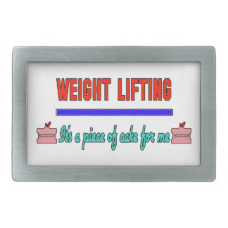 Weight Lifting It's a piece of cake for me Rectangular Belt Buckles