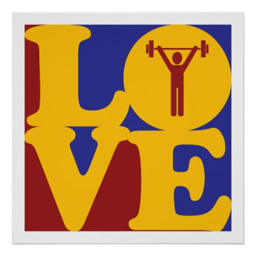 Weight Lifting Love Print