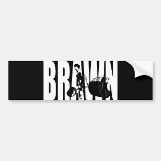 """Weight lifting"" Motivation - BRAWN Bumper Sticker"