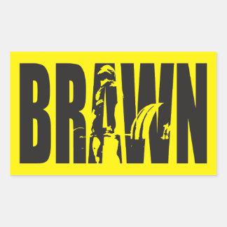 """Weight lifting"" Motivation - BRAWN Rectangular Sticker"